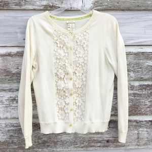 Matilda Jane mama cardigan w/ crochet lace detail